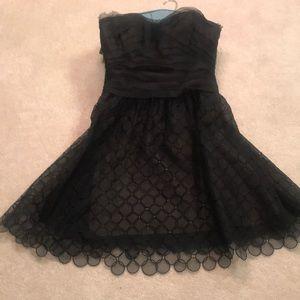 Bcbg strapless black party dress